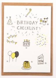 "Studio Flash • kaart ""birthday checklist"""