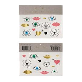 Meri Meri • tattoos eyes lips hearts