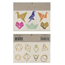 Meri Meri • tattoos origami shapes
