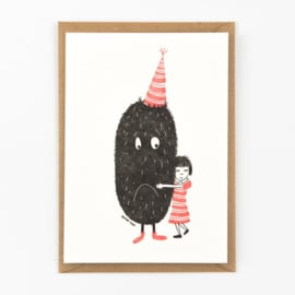 "Studio Flash • kaart ""monster hug"""