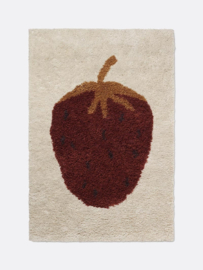Ferm Living • fruiticana tufted strawberry rug small