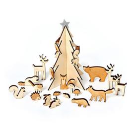 Meri Meri • advent kalender dieren