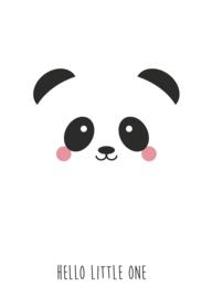 "ZZZ Studio Inktvis • kaart ""panda hello little one"""