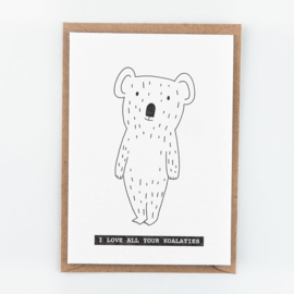 "Studio Flash • kaart ""i love all your koalaties"""