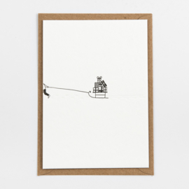 "Studio Flash • kerstkaart ""sled with presents"""