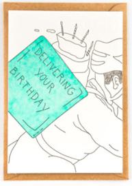 """Studio Flash • kaart """"Delivering your birthday"""""""