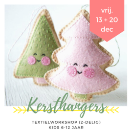 Textielworkshop • kersthangers van vilt maken (2-delig)