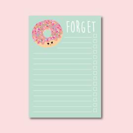 Studio Inktvis • notitieblok donut forget (A6)