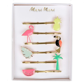 Meri Meri • hair slides tropical enamel