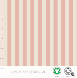 Stof • Elvelyckan Design • vertical stripes - dusty pink & creme (jersey)
