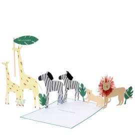 """Meri Meri • kaart """"safari baby"""" concertina"""