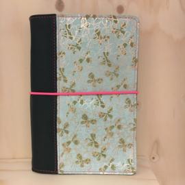 ZZZ Saskia Thomson • leren notebook A5 (mintgroen/goud)
