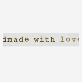 Madam Stoltz • masking tape 'handmade with love goud'