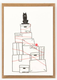"Studio Flash • kaart ""moving the cat"""