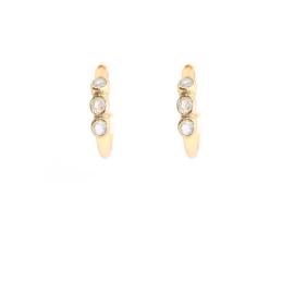 Muja Juma • oorbellen ringetje labradoriet | verguld (625)