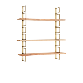Madam Stoltz • wandrek brass met houten planken