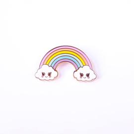Studio Inktvis • pin wolk regenboog pastel