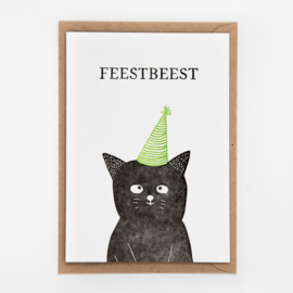 "Studio Flash • kaart ""feestbeest"""