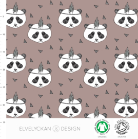 Stof • Elvelyckan Design • panda mauve (french terry)