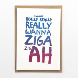 """Studio Flash • kaart """"ziga zigah"""""""