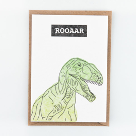 "Studio Flash • kaart ""dino - rooaar"""