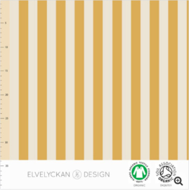Stof • Elvelyckan Design • vertical stripes - gold & creme (jersey)