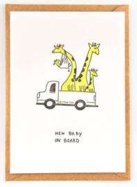 "Studio Flash • kaart ""giraf family"""