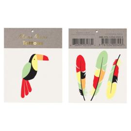 Meri Meri • tattoos toucan