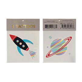 Meri Meri • tattoos space ship