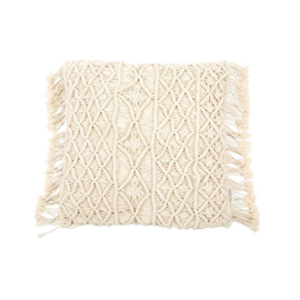 MrsBLOOM • kussen macramé offwhite 45x45 cm