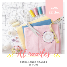 Workshop • Big XL naailes (5 uur)