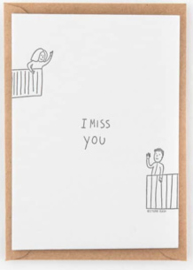 "Studio Flash • kaart ""i miss you - balcony"""