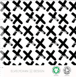 Stof • Elvelyckan Design • black X (jersey)