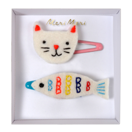 Meri Meri • hair clips cat & fish
