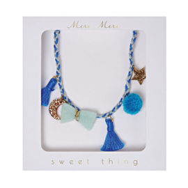 Meri Meri • necklace blue plaited