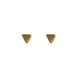 Muja Juma • oorbellen driehoek | verguld (614)