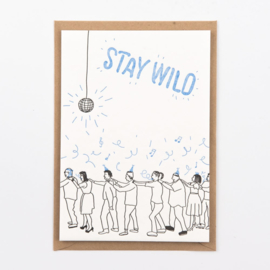 "Studio Flash • kaart ""stay wild"""