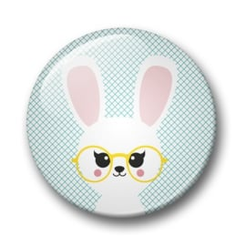 Studio Inktvis • button konijn met bril