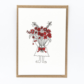"Studio Flash • kaart ""flower girl"""