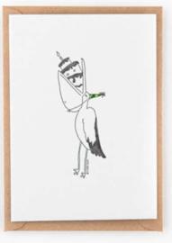 "Studio Flash • kaart ""birthday pelican"""