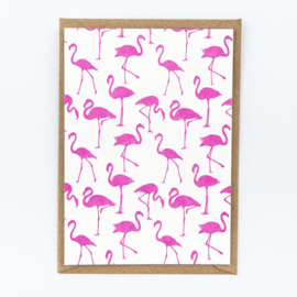 "Studio Flash • kaart ""flamingo pattern"""