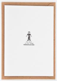 "Studio Flash • kaart ""tiny human"""