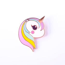 Studio Inktvis • pin eenhoorn regenboog pastel