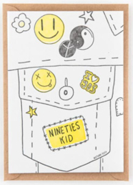 "Studio Flash • kaart ""nineties kid"""
