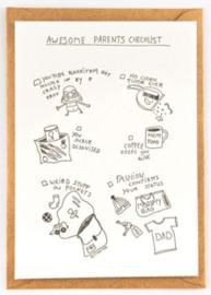 "Studio Flash • kaart ""awesome parents checklist"""