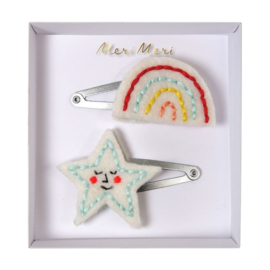 Meri Meri • hair clips rainbow & star