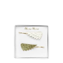 Meri Meri • hair slides glitter wing