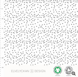 Stof • Elvelyckan Design • dotty b&w (jersey)