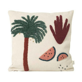 Ferm Living • palm cushion