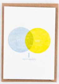 """Studio Flash • kaart """"you me awesomeness"""""""